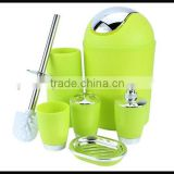 Wholesale Hot Selling 6 Pieces/Set High Quality Plastic Bathroom Set Bathroom Accessory