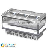 Air Cooling Supermarket Promotional Floor Display Stand Island Freezer 1850MM Length (SY-SIS185A SUNRRY)