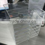Clear Custom Acrylic makeup drawers with crystal knob