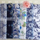 Chinese style blue and white porcelain imitation batik print cotton/linen cloth tablecloths curtain sofa fabric