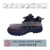 fashionable brown crazy horse leather steel toe insert safety shoe work shoe for men