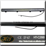 LENS materials PC 50'' 288w black led light bar for chevrolet dual row diy aquarium led light bar