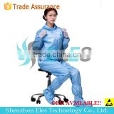 100% polyester workshop clothes antistatic anti-bacteria pullover cleanroom suit/overcoa made in China