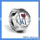 Hogift Custom Made 2015 Myosotis Forget Me Not Finger Ring Watch For Women Lady