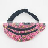Fashion Red Grotesque Pattern Printing Canvas Money Belt Bags