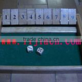 wooden shut the box game