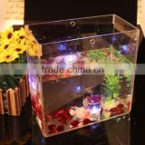 2015Wall Hanging Acrylic Square Fish Bowl, Wall Mounted Square Fish Tank, Acrylic Square Aquarium