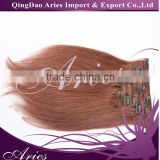 UK Market Hot Type-10 pcs 22clips Full Head Set Clip In Human Hair Extension, Indian Remy Clip On
