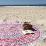 Handmade Cotton Hippie Mandala Beach Throw Roundie Yoga Mat Round Throw Tapestry Art Wall Hanging Table Cover