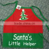 kids cute kitchen apron children painting apron, little cooker apron with customized logo santa's little helper,christmas apron                                                                         Quality Choice