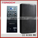 15 inch High power pa outdoor concert sound system speaker box with Folder Mp3 Player / USB/SD / Remote Control/ FM / BlUETOOTH