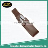 Custom leather single fountain pen case/Wholesale cheap pen cases,leather pouch for pens