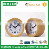 Decorative Table Desk Wooden Alarm Clock Circular Silent Digital Table clock                                                                         Quality Choice