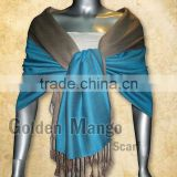 Double Face solid color viscose Pashmina Shawl