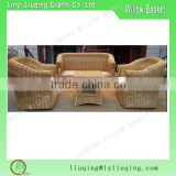 Factory supplies natural Handmade wicker garden sofa set/Outdoor rattan furniture garden furniture/ Cheap sofa bed
