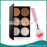 Wholesale 6 Color Makeup Blush Chemical Powder Blush with Blush Brush