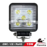 12/24V LED work light 15W, flood/spot, for Truck, tractor,trailer, offroad driving for Jeep,suv,atv,motorcycle,4X4car,IP67