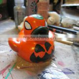 Pumpkin Mini Duck- Novelty Hand Painted Ducks for Halloween