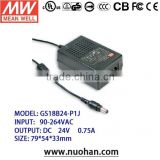 Meanwell 15~18W AC-DC Single Output Desktop 24v switch power supply/power supply cord with switch