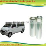 High strength building safety film/ clear car window safety film safety film for glass with factory price