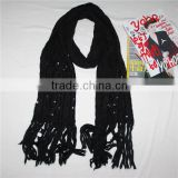 2014 sequin sex arab ms.knitted scarf neck warmer scarves