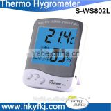 Max/min digital thermometer hygrometer with backlight (S-WS802L)