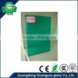 flat shape curved shape factory price 11.52mm green tinted sheet glass toughened glass laminated