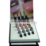 Custom acrylic display stand holder rotating spinning lipstick tower