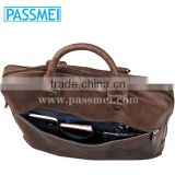 Vintage Full Grain Genuine Leather Business Briefcase Men Travel Laptop Bag                                                                         Quality Choice