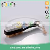 Wooden long handle foot bath brush natural bristle foot brush