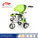 2016 new model baby tricycle price / cheap kids tricycle with back bag / children tricycle with canopy