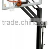 steel basketball pole steel rim with hoop net