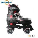 SENHAI/ACTION 2016 Professional Adjustable Roller Skates Plasstic Frame Roller Wheel Blade Skates 4 Wheels Skate Men Shoes
