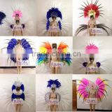 Ostrich Feather Brazil Carnival Samba Headdress Shoulder                                                                         Quality Choice
