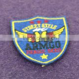 Latest Computerize Embroidery Designs Clothing Patch Wholesale Cheap Custom Self-adhesive Badge