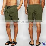 men swimwear wholesale china 100% polyester drawstring waistband mid length men swim boxer shorts with mesh lining                                                                         Quality Choice