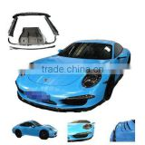 Carbon Fiber diffuser lip spoiler and front spoiler for Porsche 991 V-style