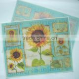 Hot sale plastic PP placemat , full color printing promotional gift pp table mat pvc desk pad