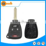 3 + 1 button remote key blank case shell with battery clamp holder and logo for Jeep wrangler willys 1100cc
