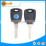 transponder key case with blue logo uncut blade abs material for fiat doblo ducato panda brava
