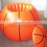 2016Factory ASTM Approved Eco-friendly Orange PVC Inflatable Basketball Ice Cooler/Buckets