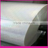 BOPP transparent holographic roll film,cold &thermal transparent holographic lamination film