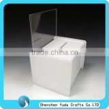 White Acrylic Suggestion Box With A5 Landscape Poster Holder Standing Comment Collection Box