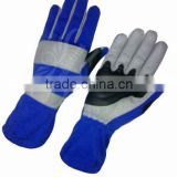 UEI-21009 blue/grey Go kart gloves, Karting gloves, Kart racing gloves, kart sports gloves, kart gloves