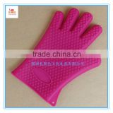 Purple Color Silicone Gloves As Oven Mitts, Cooking Gloves, or Kitchen Potholders for Baking and Cooking for Home or Camping