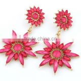 Flower stud earrings ladies earrings wholesale fashion jewelry