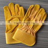 Brown cow split leather palm and high quality for winter hand safety