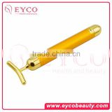 24K Golden Plulse Plated NEW Skin Care Beauty anti-aging Bar Anti-Aging Facial Massage Pulse Roller Beauty Lift Bar