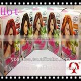 China supply popular hot sale high quality coffee/natural black/brownish red colours hair dye shampoo wholesale 2 in 1