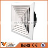 HVAC powder coated supply & return air conditioning diffuser square ceiling diffuser
